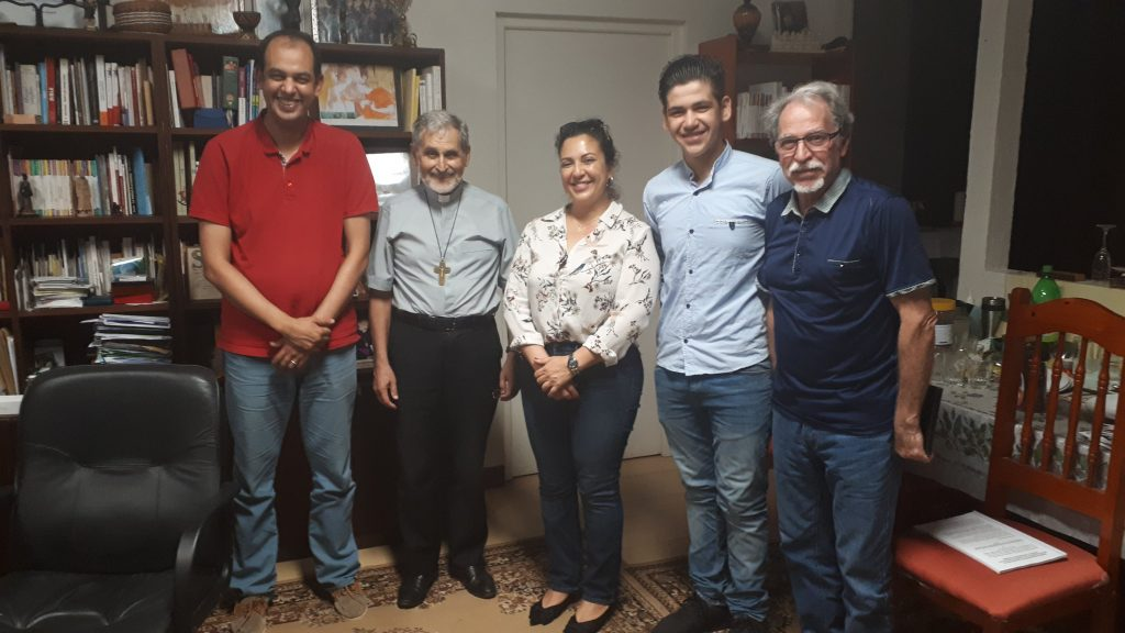 Visite évêque de la Guyane