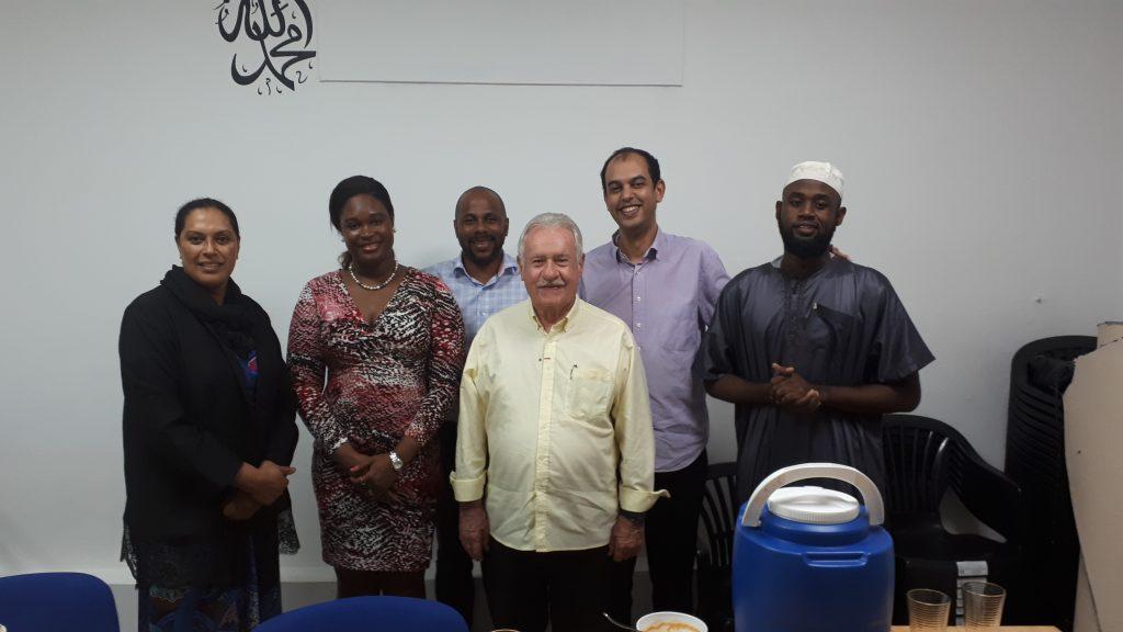 Invitation de Madame la consule de la république de  Haïti en Guyane au repas de rupture du jeun au sein de l'association culturelle et caritative des musulmans de la Guyane française, un moment de partage et de fraternité.