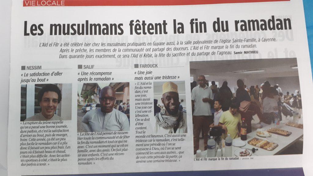 Aid al fitr journal France Guyane