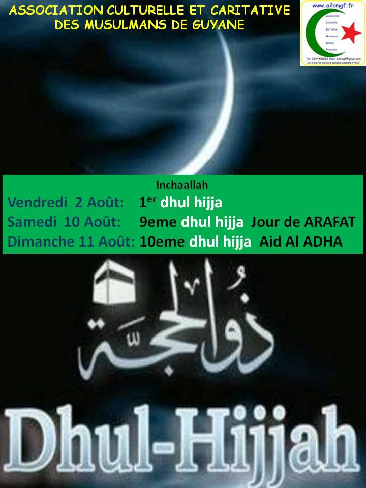 AÏD AL ADHA  DIMANCHE 11 AOÛT