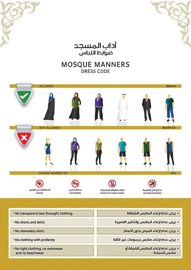Le dress code à adopter dans les mosquées