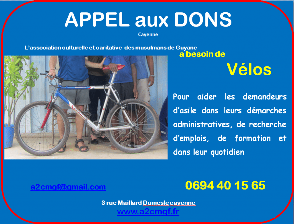APPEL aux DONS Vélos