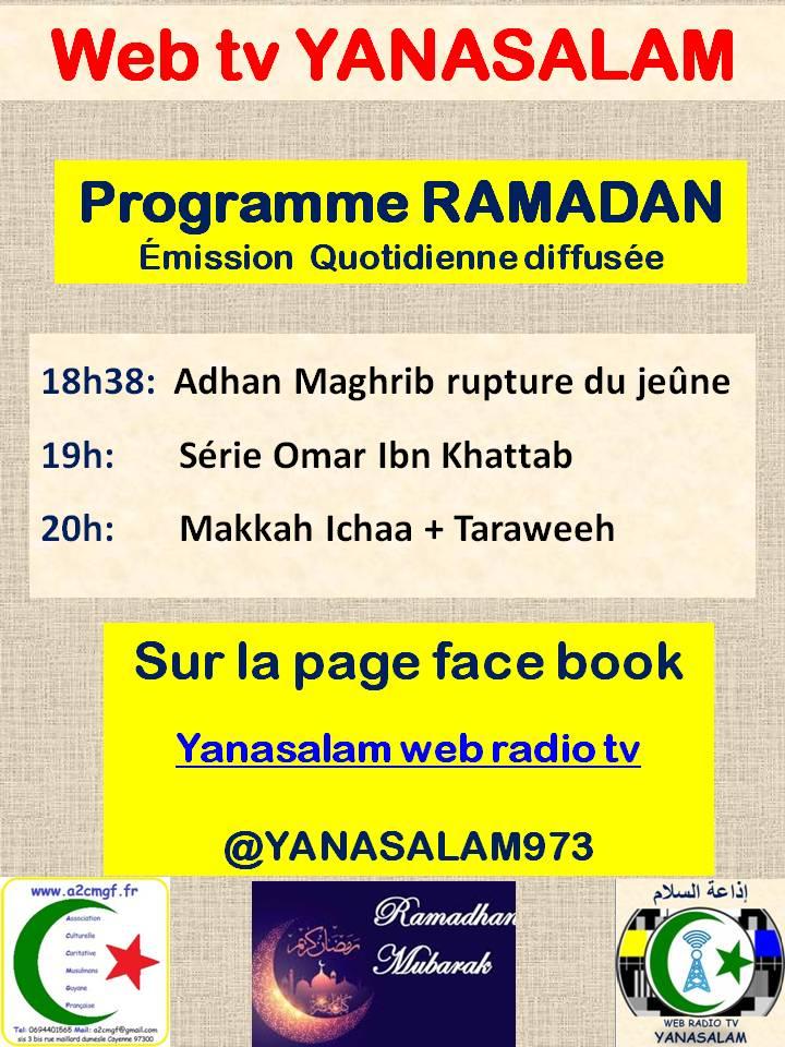 programme tv ramadan