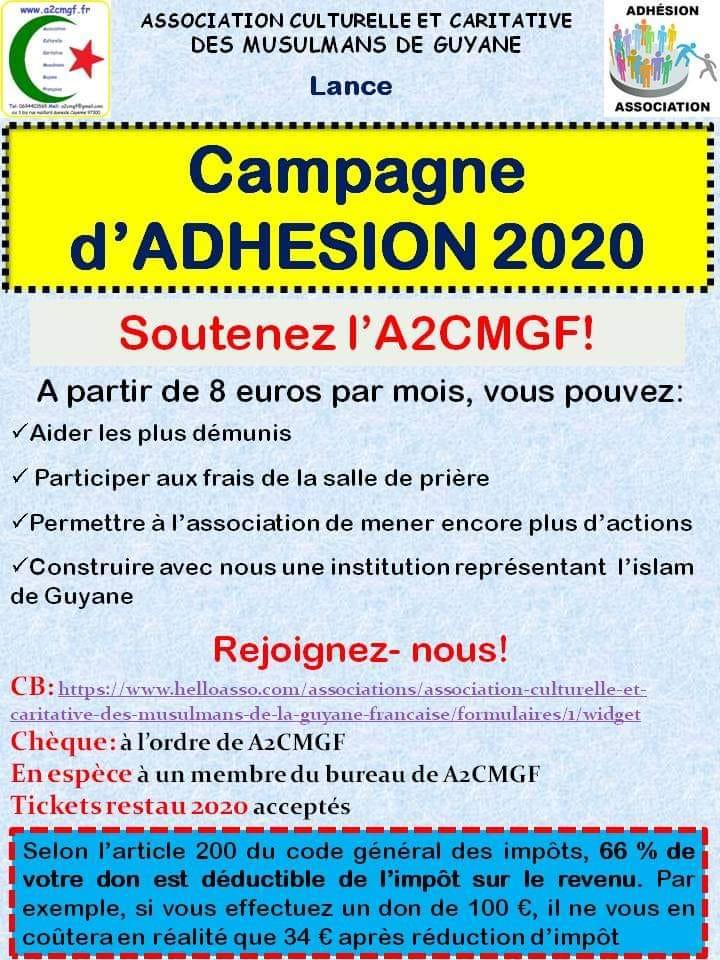 Campagne d'adhésion