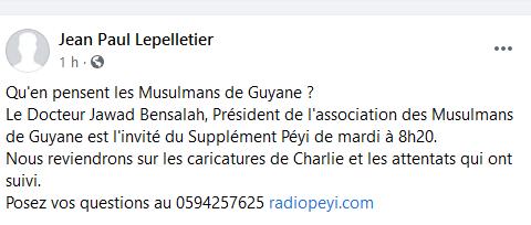 Radio Péyi Mardi à 8h20