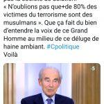 Robert Badinter : «Moi je n'aime pas la société de délation. «N'oublions pas que+de 80% des victimes du terrorisme sont des musulmans»