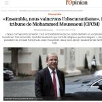 Ensemble, nous vaincrons l'obscurantisme Par Mohammed Moussaoui, président du CFCM